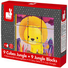 9 cubes animaux de la jungle
