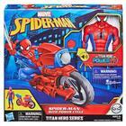 Figurine Spiderman 30 cm et sa moto Power Cycle - Titan Hero Series