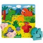 Puzzle en bois cache-cache dinosaures 6 pièces