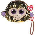 Porte monnaie peluche sequins Coconut le singe 10 cm