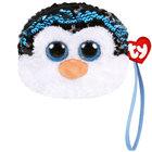 Porte monnaie peluche sequins Waddles le pingouin 10 cm
