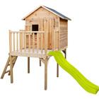 Maison en bois Charlotte avec toboggan