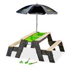 Table sable et eau Aksent avec bancs et parasol
