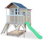 Maison en bois Loft 550 avec bac à sable et toboggan