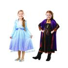 Déguisement - Pack Anna et Elsa La Reine des Neiges 2 5/6 ans