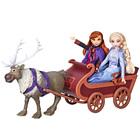 Poupées Anna Elsa et Sven et son traineau Disney La Reine des Neiges 2