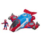 Figurine Spiderman 12 cm et son Jet Quartier - Marvel Super Hero Adventures