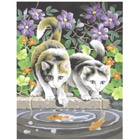 Peinture aux numéros Chats et Poissons