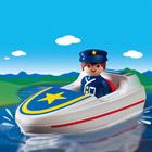 6720-Policier Avec Bateau