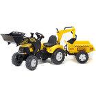 Tracteur ower Loader avec excavatrice et remorque