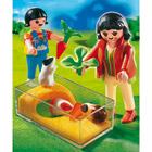 4348-Enfants Avec Terrarium et Cochons d'Inde