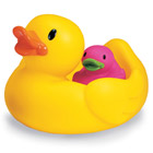Famille canards pour le bain