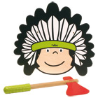 Bouclier indien avec tomahawk