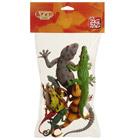 8 figurines reptiles