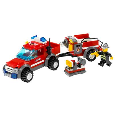 7942-Le 4X4 Des Pompiers et Sa Remorque
