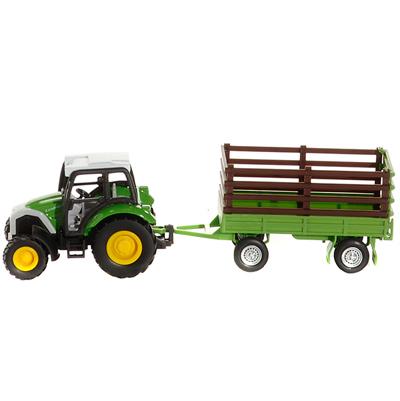 Tracteur et remorque en métal