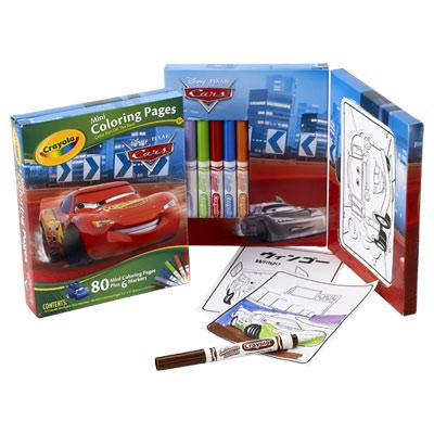80 Mini dessins Cars + feutres