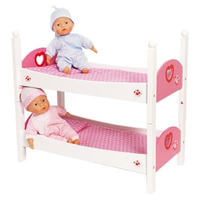 Lit superpos bois love bebe king jouet accessoires de poup es love bebe - Lit superpose bonne qualite ...