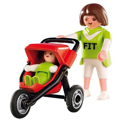 4697-Maman avec bébé et poussette