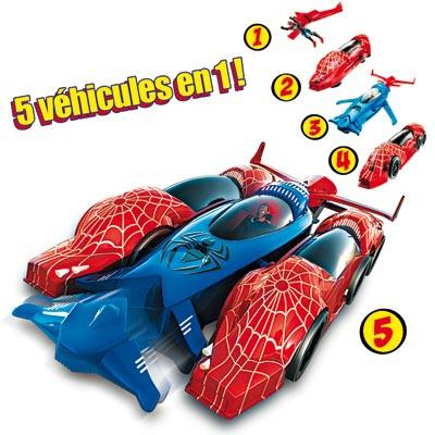 Véhicule 5 en 1 Spiderman