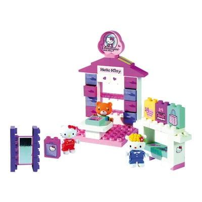 La boutique de Hello-Kitty en briques
