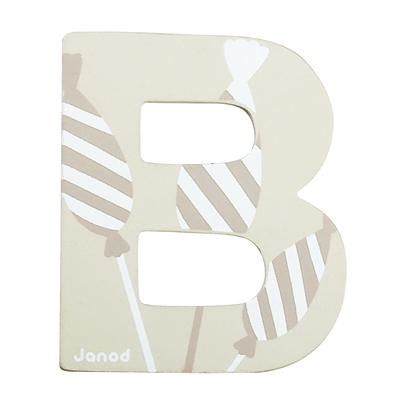Lettre décorative en bois -B
