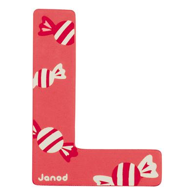 Lettre décorative en bois -L
