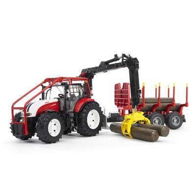 tracteur forestier fendt + remorque de debardage
