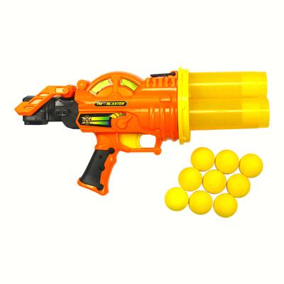 Pistolet 3 canons balles mousse