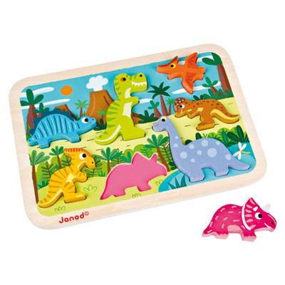 Chunky puzzle  Bois Dinosaures