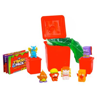 Trash Pack Blister 6 personnages et poubelle avec gel gluant