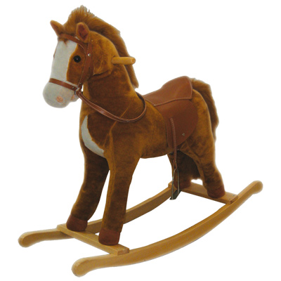 Cheval bascule bois sons ami plush king jouet porteurs jouets ba - Cheval a bascule en bois blanc ...
