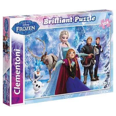 Puzzle 104 Pièces Brillant Frozen