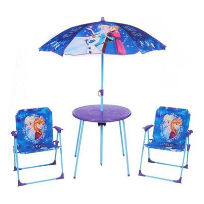 Table et chaise de jardin la reine des neiges logitoys - Table de jardin avec parasol ...