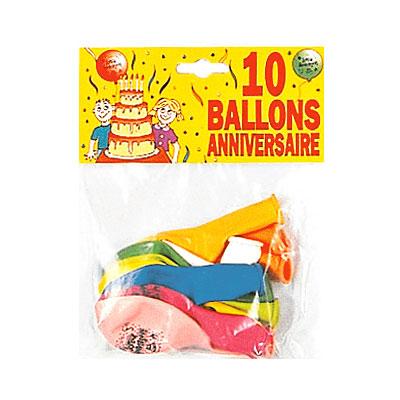 10 ballons anniversaire pour 2€
