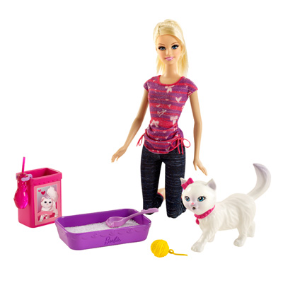 Barbie Animaux Rigolos Barbie Et Son Chat Blissa