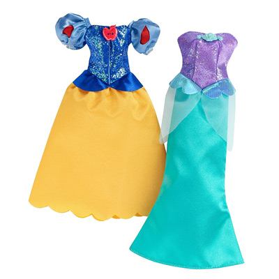Robes paillettes disney princesses ariel et blanche for Robes de mariage disney blanc neige