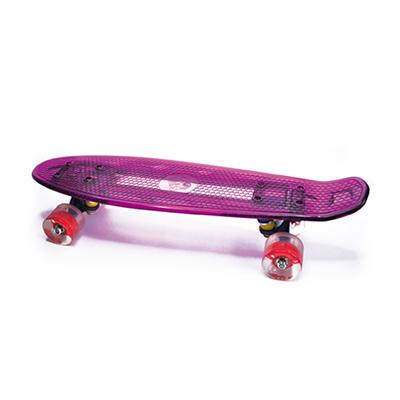 Skate Planche et Roues LED - violet