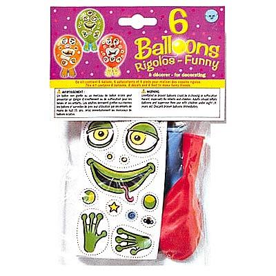 6 ballons à décorer d25cm pour 3€