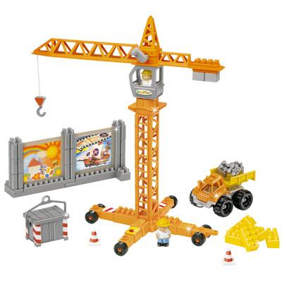 Grue abrick ecoiffier king jouet lego planchettes autres ecoiffier - Jeux de grue de construction gratuit ...
