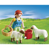 4765-Agricultrice avec moutons