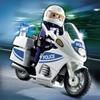 5185-Motard de police avec lumière clignotante