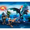 5484-Dragon avec guerrier