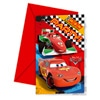6 Cartes Invitation et Enveloppes Cars Racing Sports Network