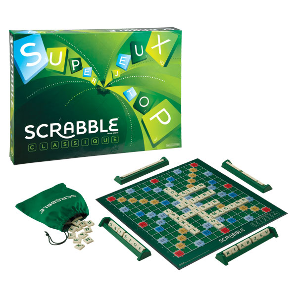 scrabble classique mattel jeux king jouet jeux de r flexion mattel jeux jeux de soci t. Black Bedroom Furniture Sets. Home Design Ideas