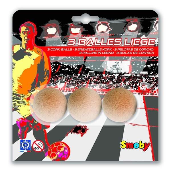 3 balles en liège pour baby foot