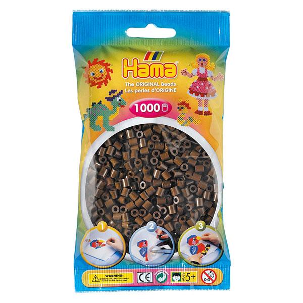 Sachet 1000 perles marron