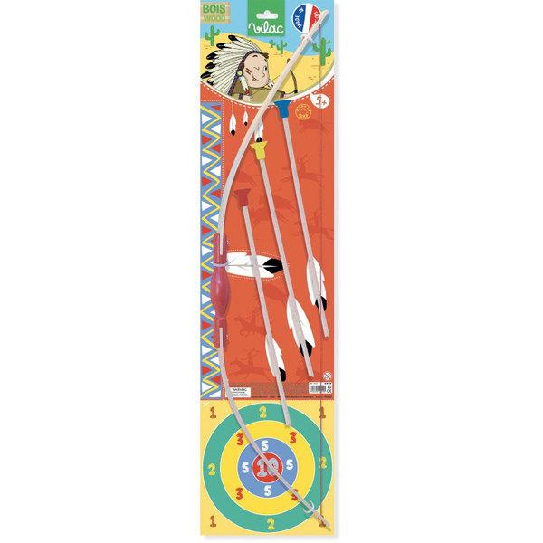 Arc en bois avec des flèches