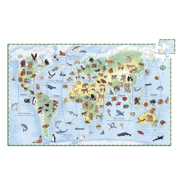Puzzle observation animaux du monde 100 pièces