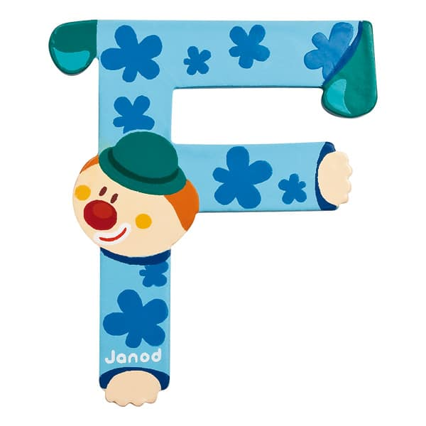 Lettre clown F